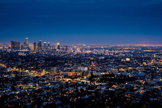 Los Angeles nähtävyydet yöllä