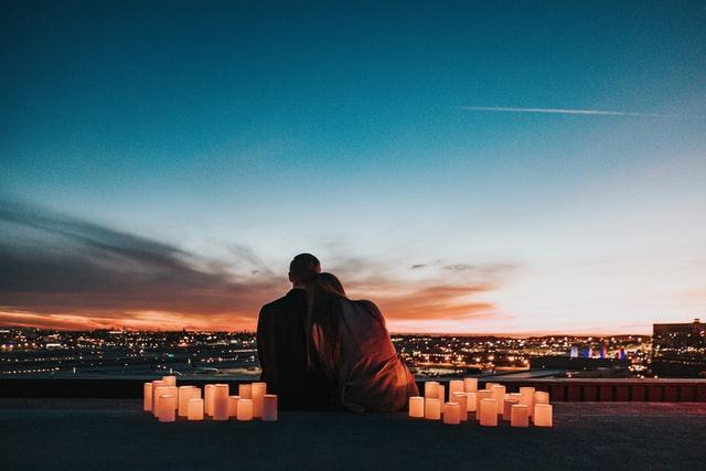 Romanttinen maisema.